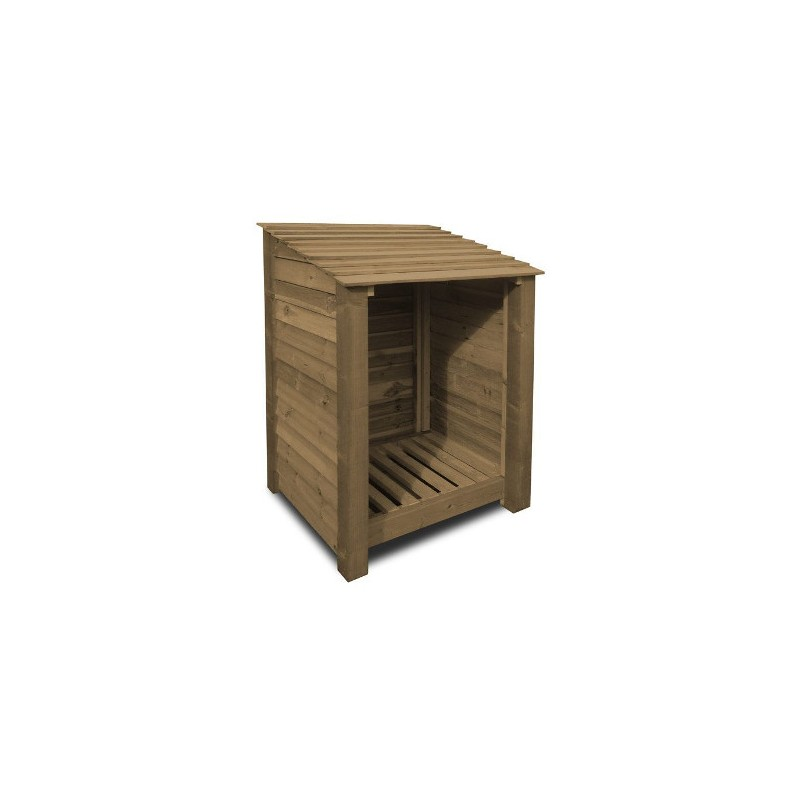 4ft log store single bay wooden log storage for Storage bay