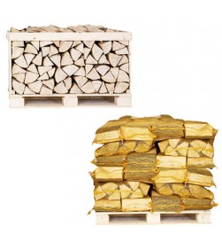 HALF CRATE AND 30 NETS ASH KILN DRIED LOGS COMBO