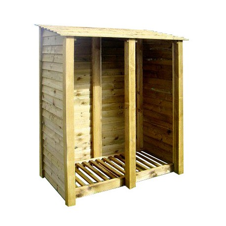 DOUBLE BAY 6FT LOG STORE GREEN