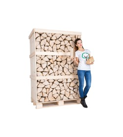 Giant CRATE ASH KILN DRIED LOGS