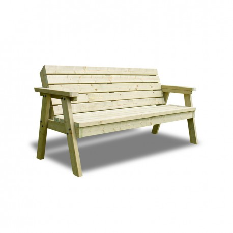 2 SEATER THISTLE BENCH WITH BACK GREEN