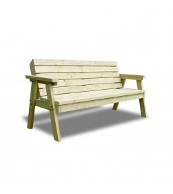 3 SEATER THISTLE BENCH WITH BACK