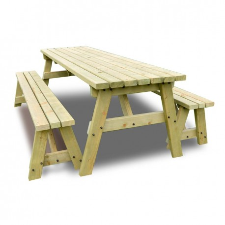 6FT PICNIC TABLE AND BENCH green