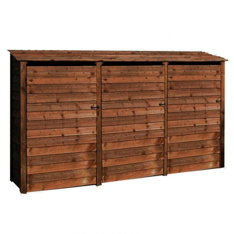 6ft log store triple bay wooden shed for log storage for Storage bay