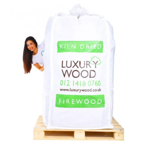 SUPER SIZE BULK BAG OF KILN DRIED LOGS oak