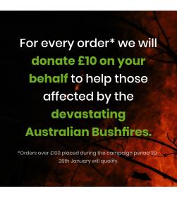 £10 DONATION TO FIGHT AUSTRALIAN BUSHFIRES