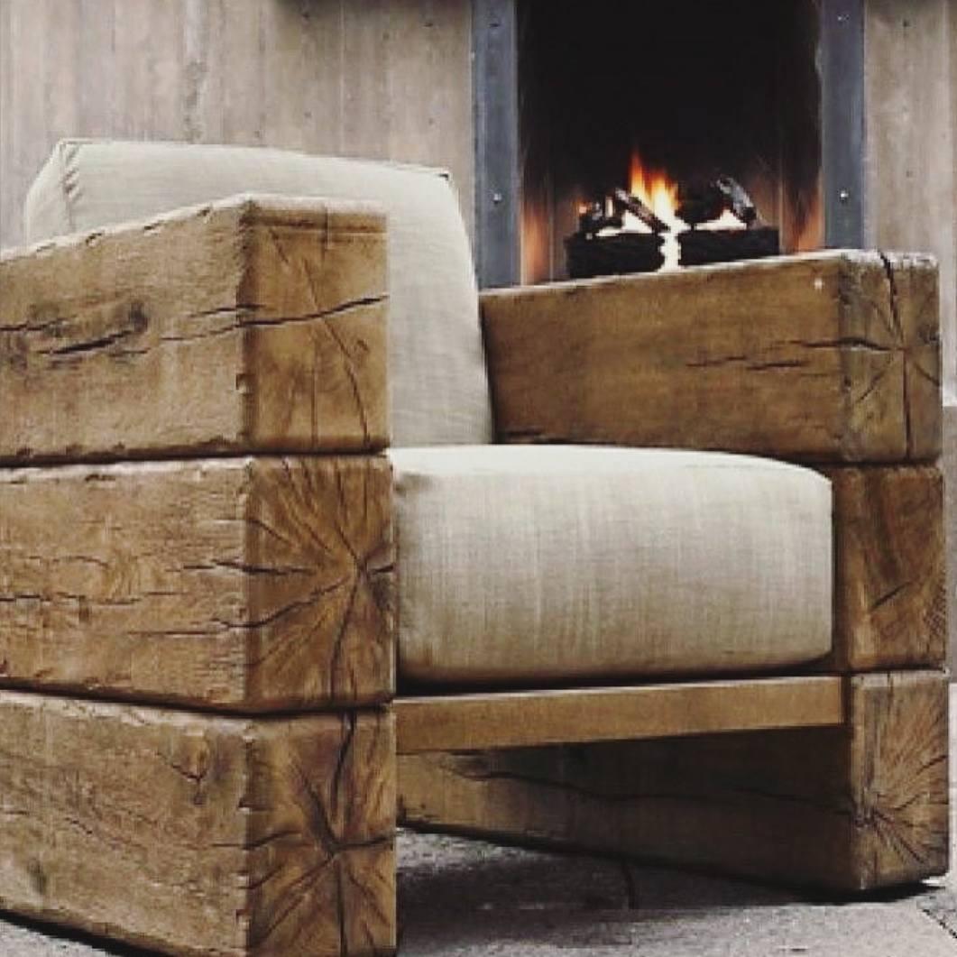 rustic oak railway sleepers garden furniture idea