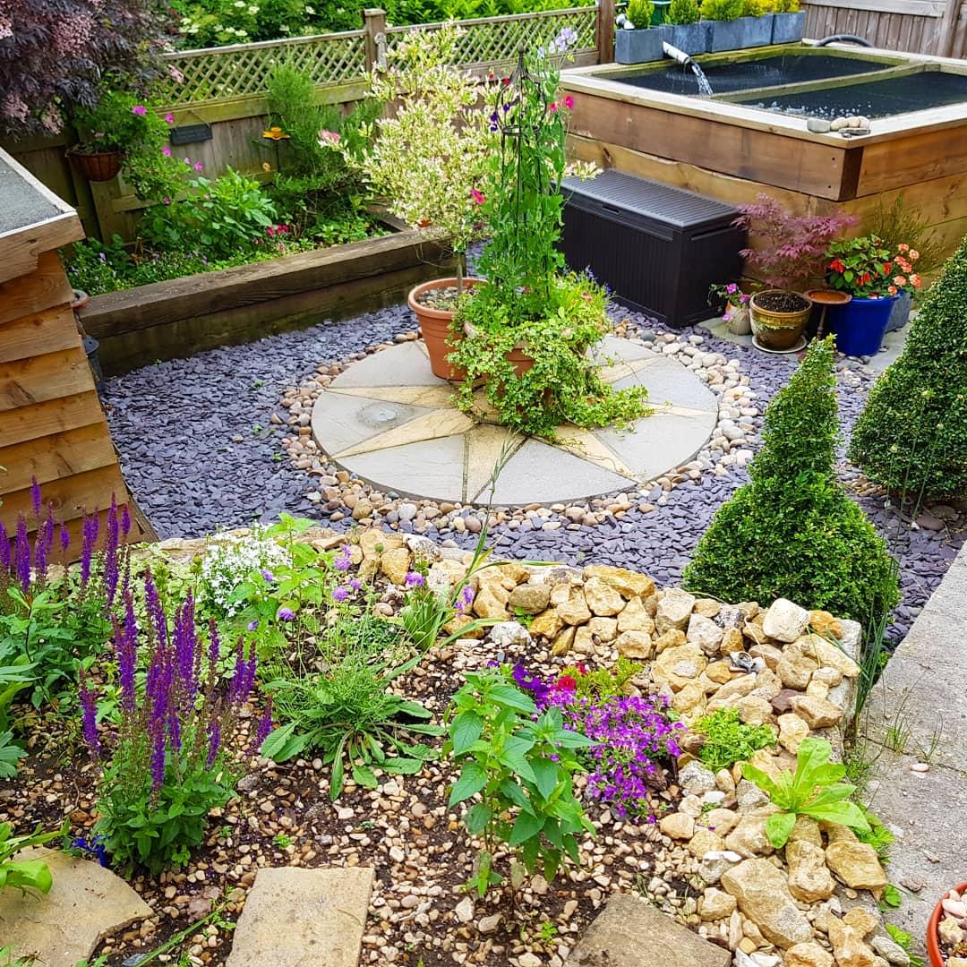 railway sleepers garden pond ideas