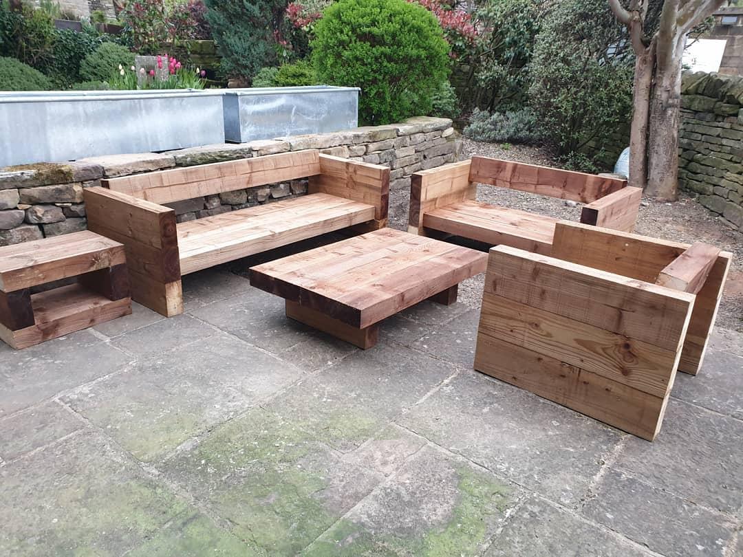 oak sleepers garden furniture