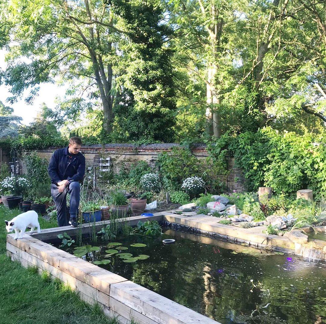 oak sleepers fish pond