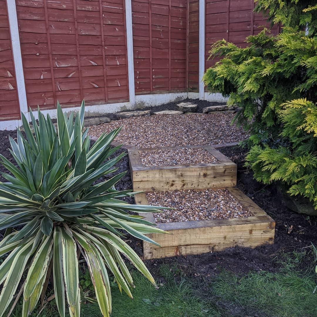 garden sleepers stairs ideas