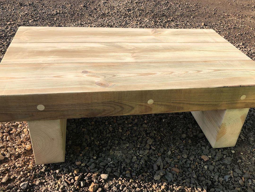 railway sleepers table idea