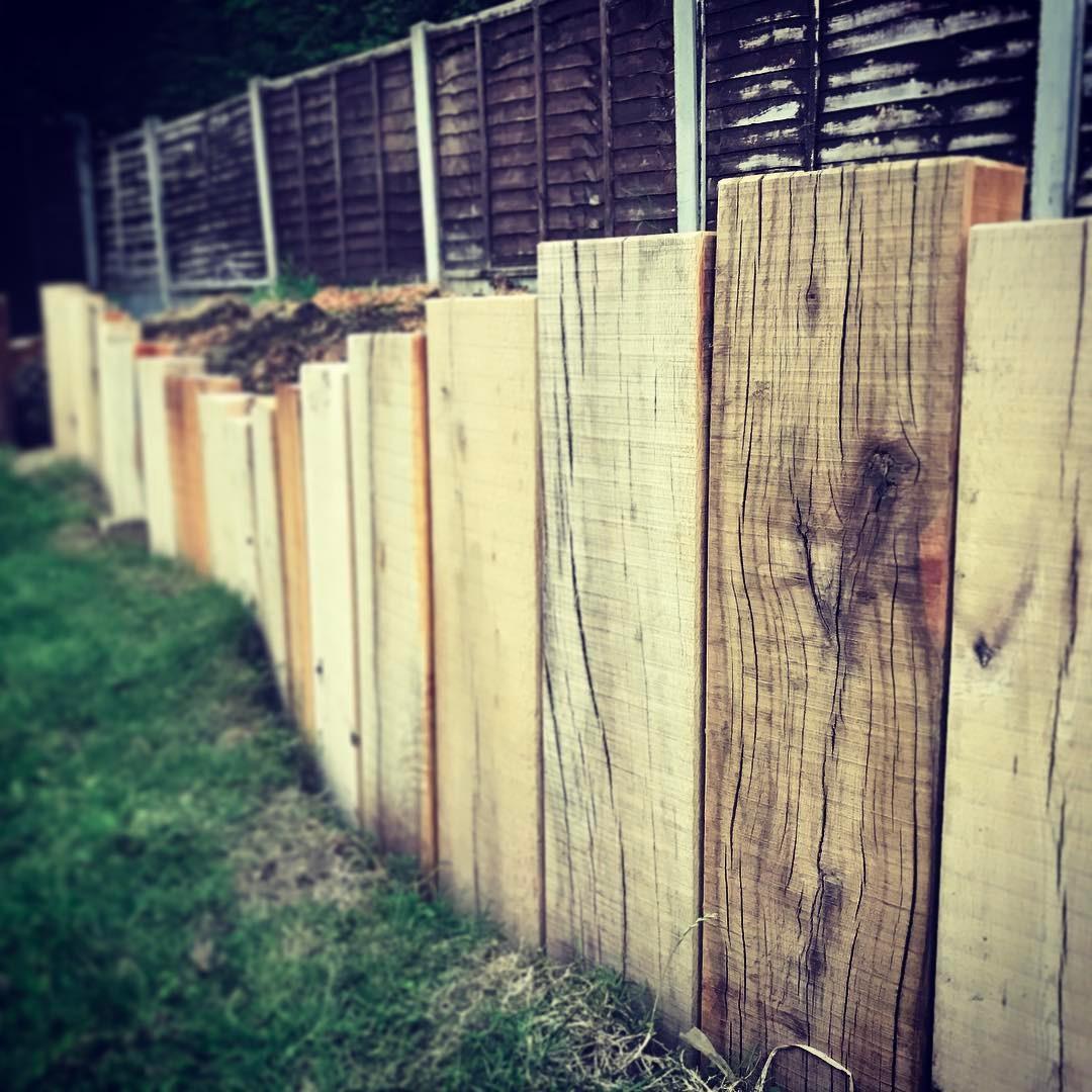Railway sleepers ideas - retainer walls in the garden