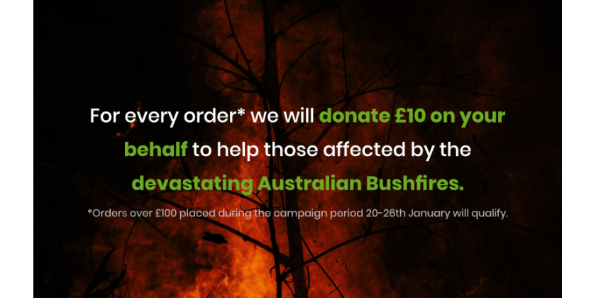 With Your Help The Luxury Wood Company Donated Over £2,000 to Australian Red Cross