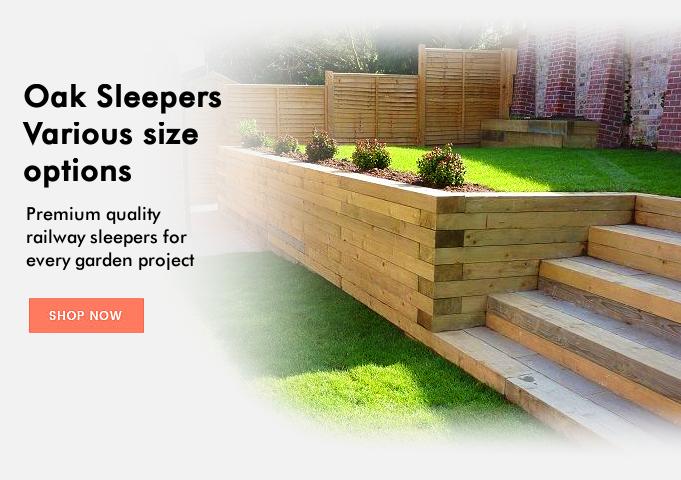 Railway sleepers - premium garden oak sleepers