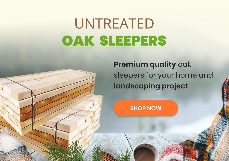 Untreated Railway Oak Sleeper