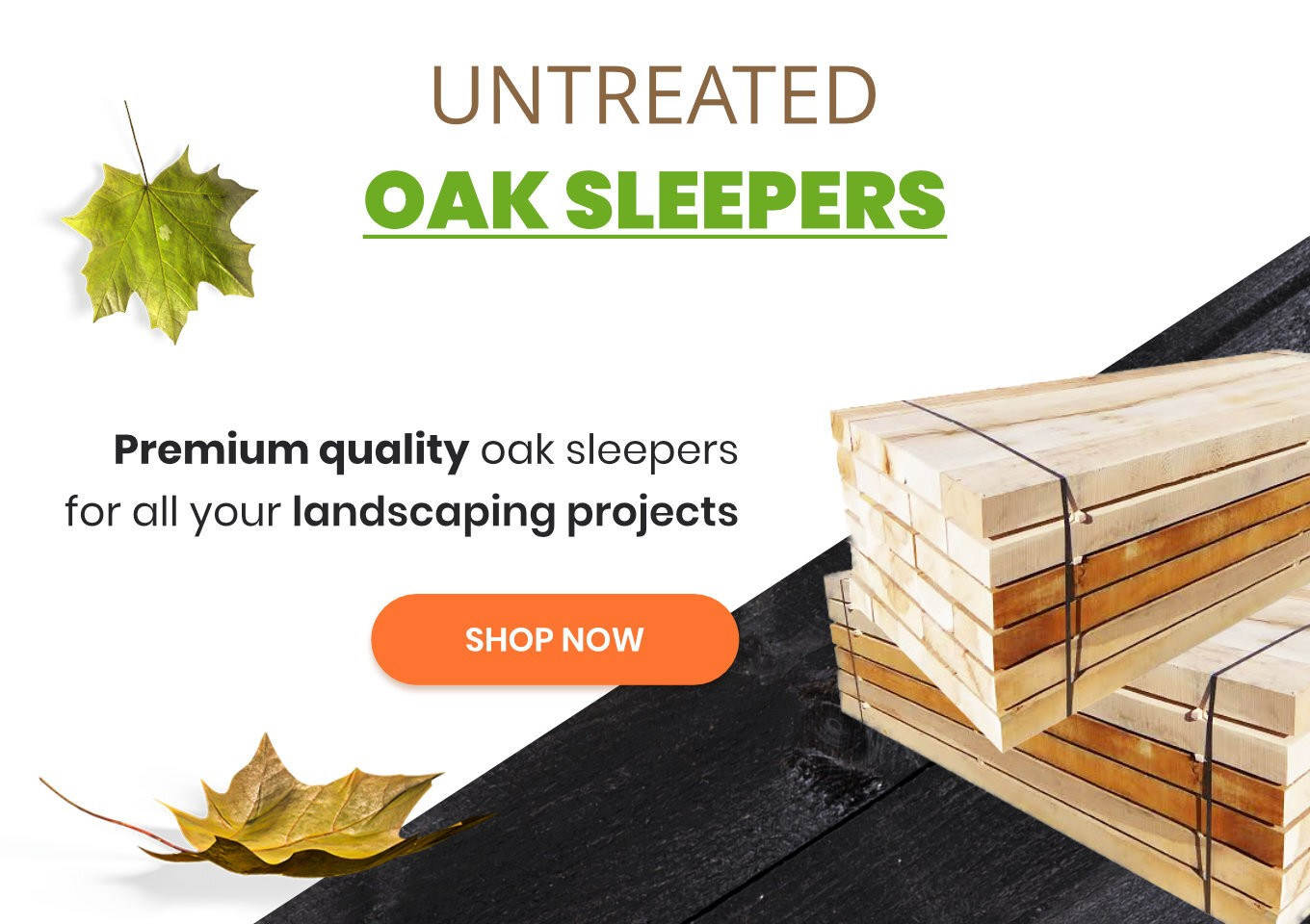 Untreated Oak Sleepers