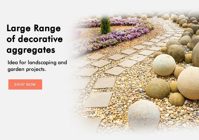 Decorative aggregats, cobbles and pebbles