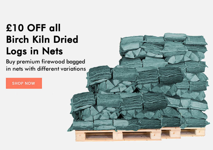 £20 OFF Birch Kiln Dried Logs in Nets