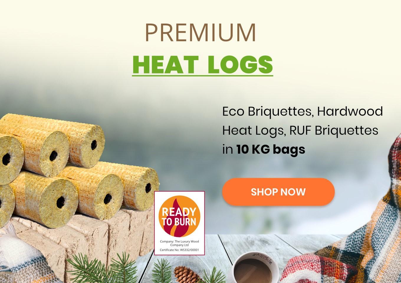 Premium heat logs