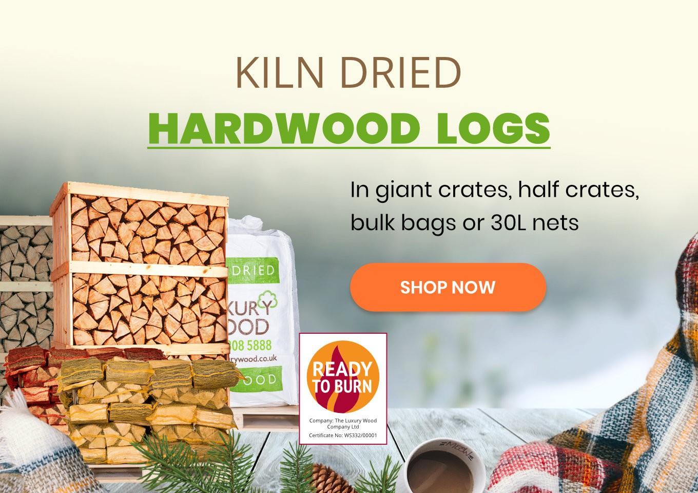Kiln dried hardwood logs - Ready to burn certified