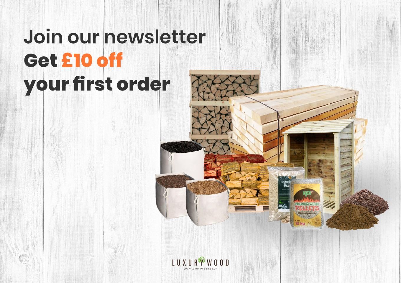 Join our newsletter to get £10 off your first order