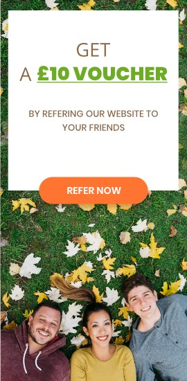Get 10 GBP Voucher for Referring a Friend