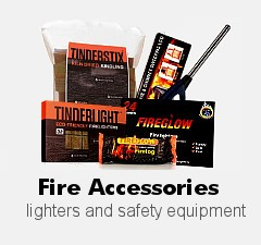 Fire Accessories, lighters and kindling